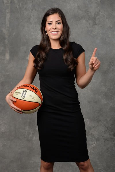 Kelsey Plum poses for a photo after being drafted number one overall by the San Antonio Stars during the WNBA Draft on April 13, 2017 at Samsung 837 in New York, New York. Photo by Jennifer Pottheiser/NBAE via Getty Images.