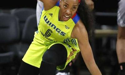 Kayla Thornton was cut by two WNBA teams before making the Dallas Wings roster this year. Photo by global1sports.