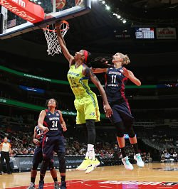Glory Johnson has returned to form after two injuries last season. Photo by Ned Dishman/NBAE via Getty Images.