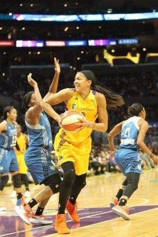 Candace Parker looks to pass inside. Photo by Benita West/TGSportsTV1.