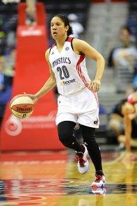 Kara Lawson plays for the Washington Mystics in 2015. Photo by Phil Ellsworth / ESPN Images.