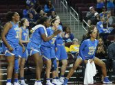 Bruins at the end of the game. Photo by Maria Noble/WomensHoopsWorld.