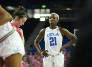 Freshman Michaela Onyenwere scored 12 points - her second consecutive matchup in double figures. Photo by Maria Noble/WomensHoopsWorld.