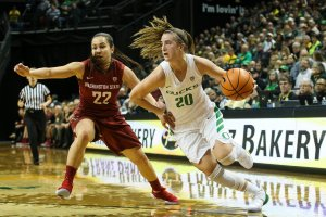 Sabrina Ionescu. Photo by Eric Evans Photography/Oregon Athletics.