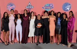 WNBA draftees stand together before the evening begins. Photo courtesy of WNBA.