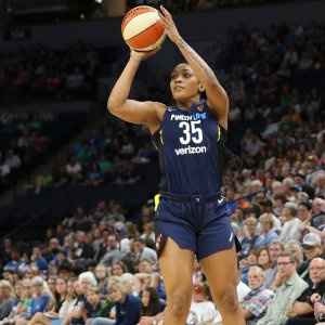 Rookie Victoria Vivians scored 13 points in the Fever's win over the Lynx. Photo courtesy of Indiana Fever.