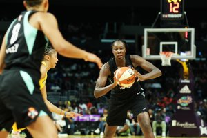 Tina Charles is averaging 20.1 points per game for the Liberty this season - the only player on the team with double-digit scoring. Maria Noble/WomensHoopsWorld.