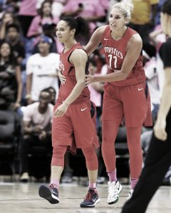 Kristi Toliver and Elena Delle Donne have made a formidable combination this season. NBAE via Getty Images photo.