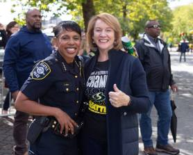 Seattle police chief Carmen Best and Mayor Jenny Durkan were on hand for the parade. Neil Enns/Storm Photos.
