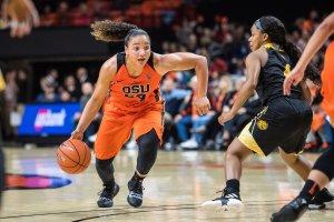 Destiny Slocum. Photo courtesy of Oregon State athletics.