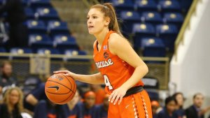 Tiana Magankahia is Syracuse's leading scorer and is the Division I co-leader for assists. Photo courtesy of Syracuse Athletics.