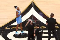 Friday, July 26, 2019 - Diamond DeShields celebrates winning the skills challenge during the WNBA All-Star Weekend at Mandalay Bay in Las Vegas, NV. (Maria Noble)