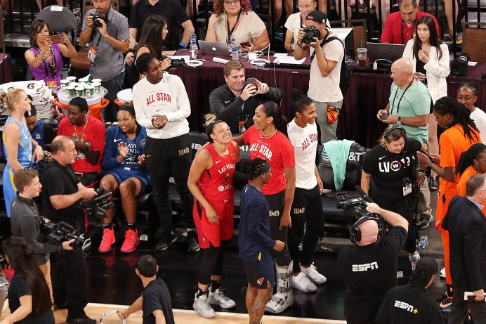Friday, July 26, 2019 - Kayla McBride came in second in the three-point shooting contest during the WNBA All-Star Weekend at Mandalay Bay in Las Vegas, NV. (Maria Noble)