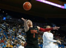 Kayla Overbeck fights for ball possession. Maria Noble/WomensHoopsWorld