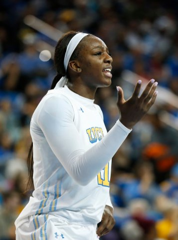 Michaela Onyenwere is displeased with a call. Maria Noble/WomensHoopsWorld
