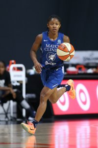 Rookie Crystal Dangerfield has been a strong factor in the Minnesota Lynx's fourth-place record this season, as she is a favorite to win the Rookie of the Year award. Photo by Stephen Gosling/NBAE via Getty Images.