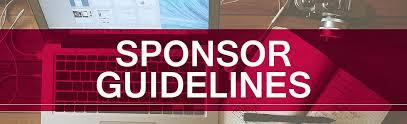 Sponsor Guidelines