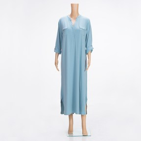 Forest-Green-Long-Sleeve-Nightgown