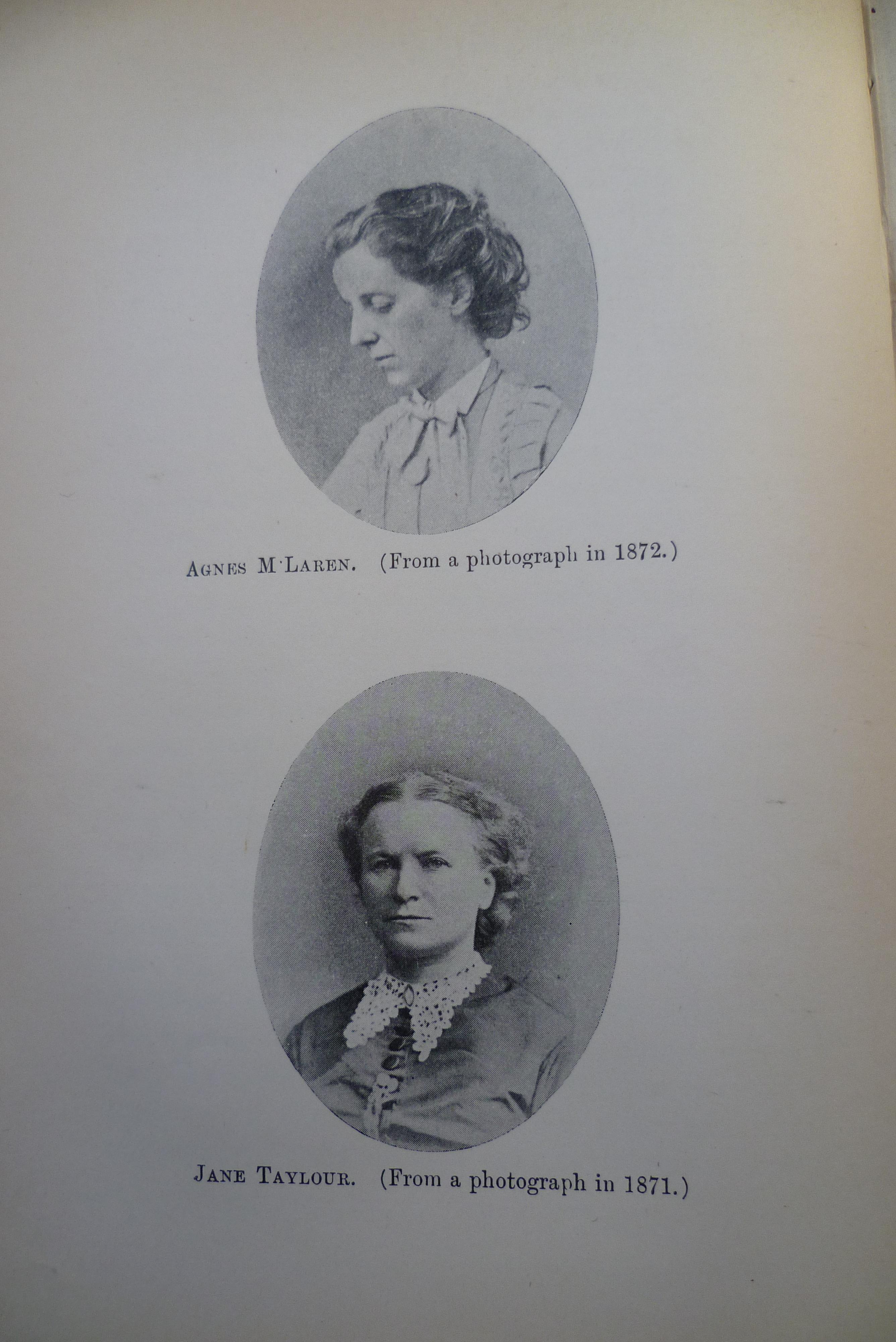 Agnes McLaren and Jane Taylour