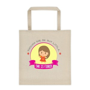 She Is Fierce Canvas Tote