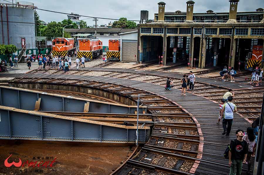 彰化景點、免費參觀,百年歷史縣定古蹟「扇形車庫」,紀念前人的智慧,保留屬於蒸氣火車的獨家記憶