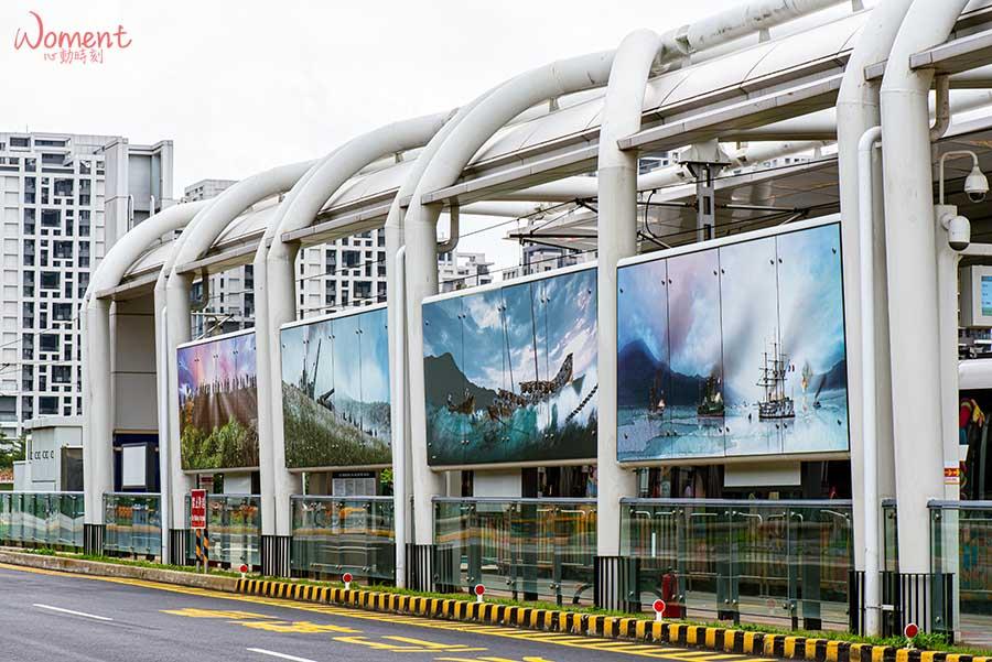 淡海輕軌藍海線-海洋科技大學站-壁畫