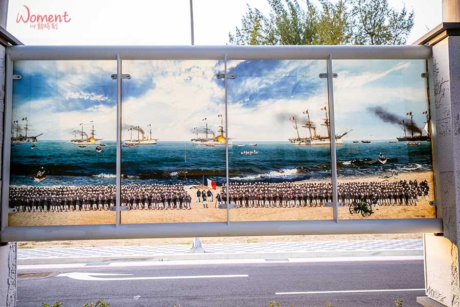 淡海輕軌藍海線-沙崙站-壁畫