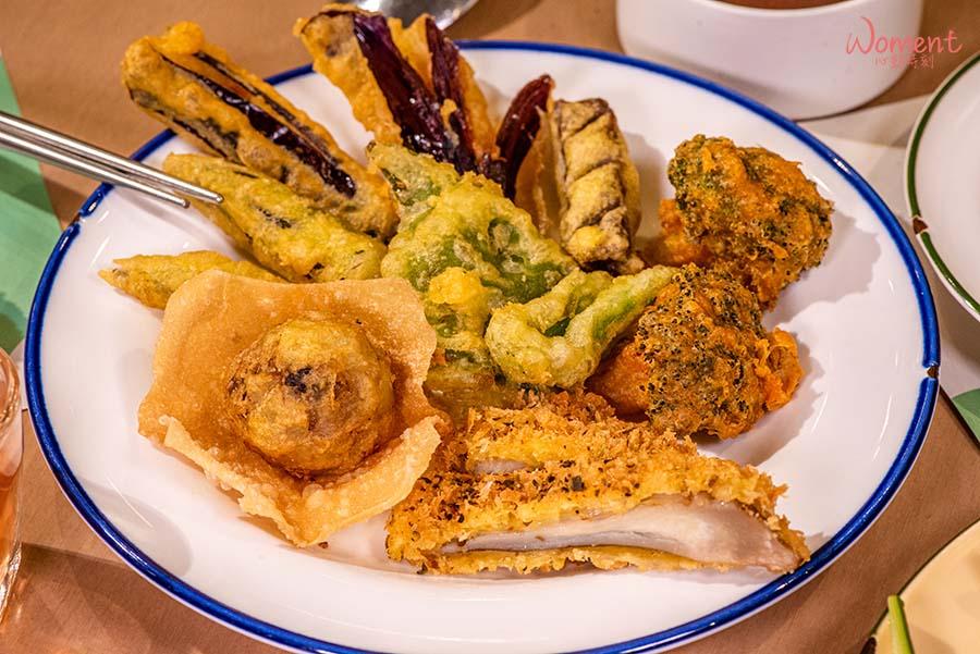 蔬食素食餐廳-吃到飽推薦果然匯 - 天婦羅炸物料理菜色