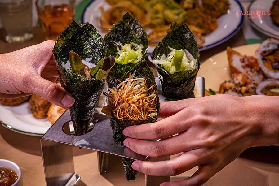 蔬食素食餐廳-吃到飽推薦果然匯 - 素食手捲