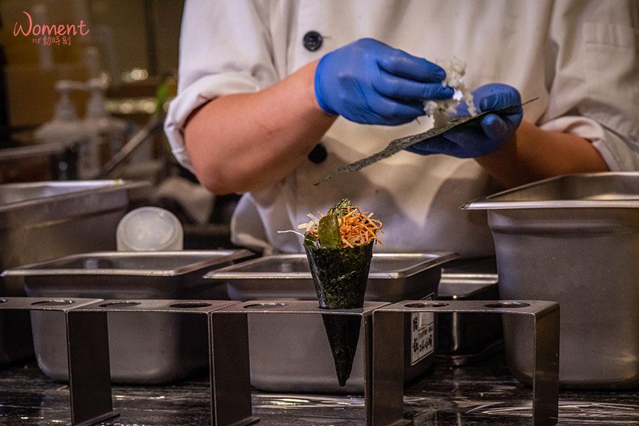 蔬食素食餐廳-吃到飽推薦果然匯 - 現做三種口味手捲