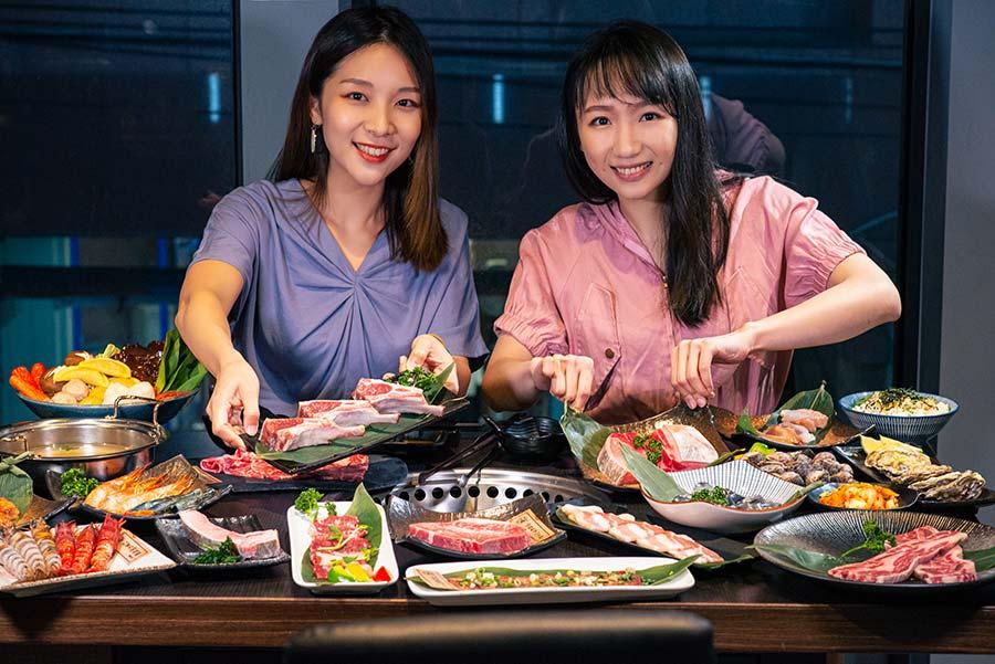 板橋燒烤吃到飽推薦「饗鮮肉」鄰近府中捷運站,豐富肉品與海鮮任你吃到飽,日式燒肉、精緻火鍋雙重享受!
