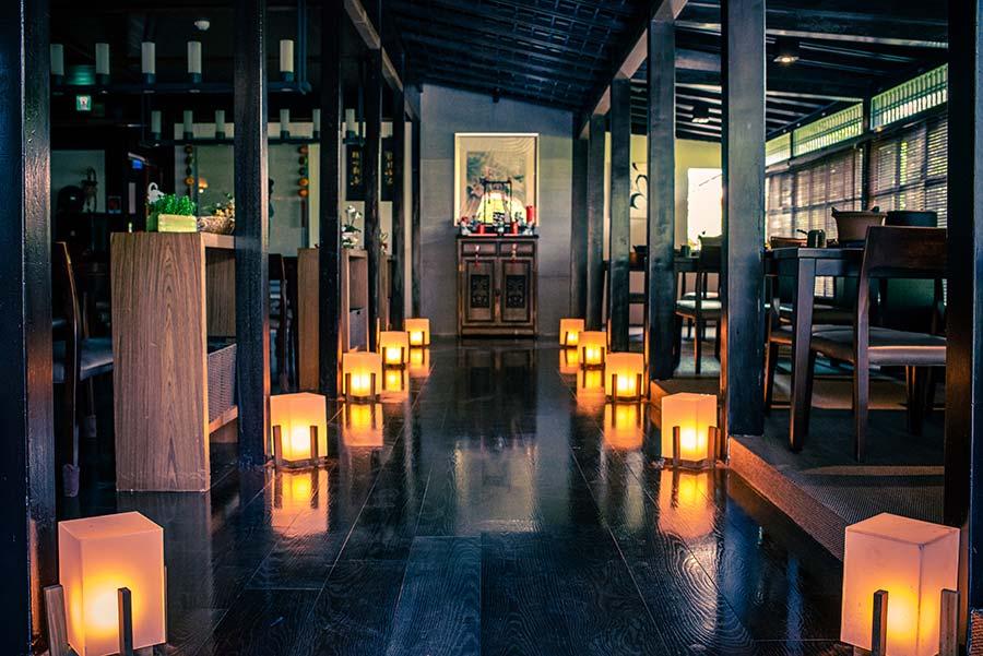 北投景觀餐廳推薦,少帥禪園「漢卿美饌」以日式懷石精緻風格呈現創意料理,園區超美景觀鳥瞰觀音山,隱密聚會更有20人大包廂