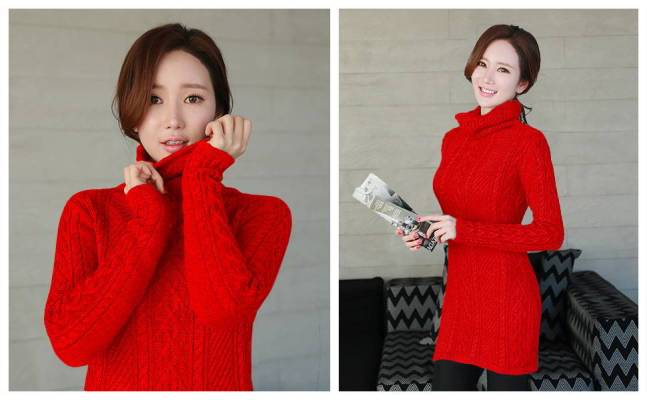 v28 Sleeve Thin Sweater