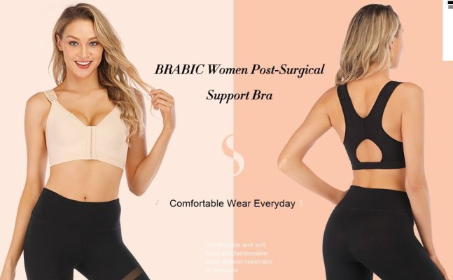BRABIC Women Post Surgical Sports Bra