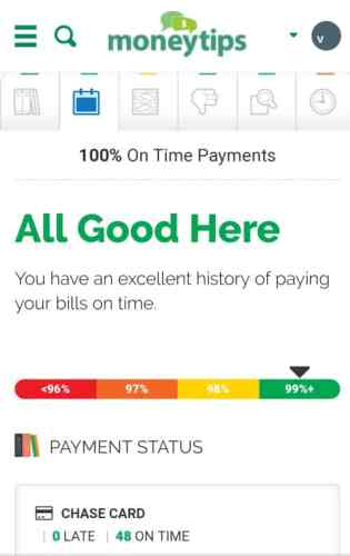 MoneyTips Payments Record