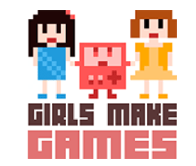 Girls Make Games website logo