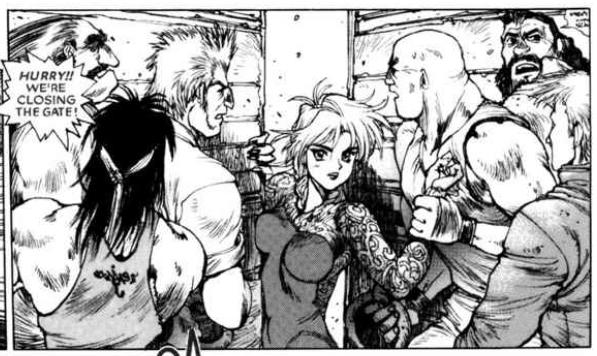sexy rape, Ghost in the Shell 2: man-machine interface manga comic, Young Magazine, Dark Horse Comics, 1991 -- 2003