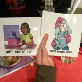 DMG Dev babe and VR babe stickers