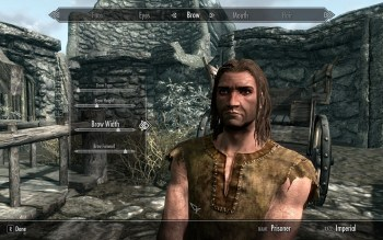 An image of a light-skinned brown-haired man in homespun clothes. The Elder Scrolls V: Skyrim, Bethesda, 2011