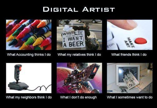 What I do digital artist