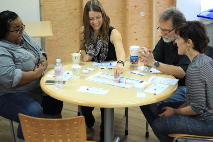 Game testers enjoy a round of fightin' oppression! Image via TESA.
