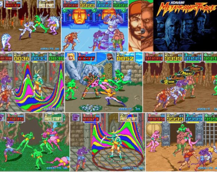 Metamorphic Force, Konami, arcade, 1993
