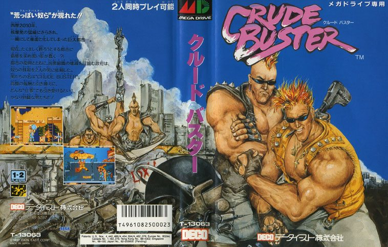 Crude Buster, Data East, 1991, Arcade/Sega Genesis