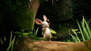 Quill, one of the main characters in the game Moss
