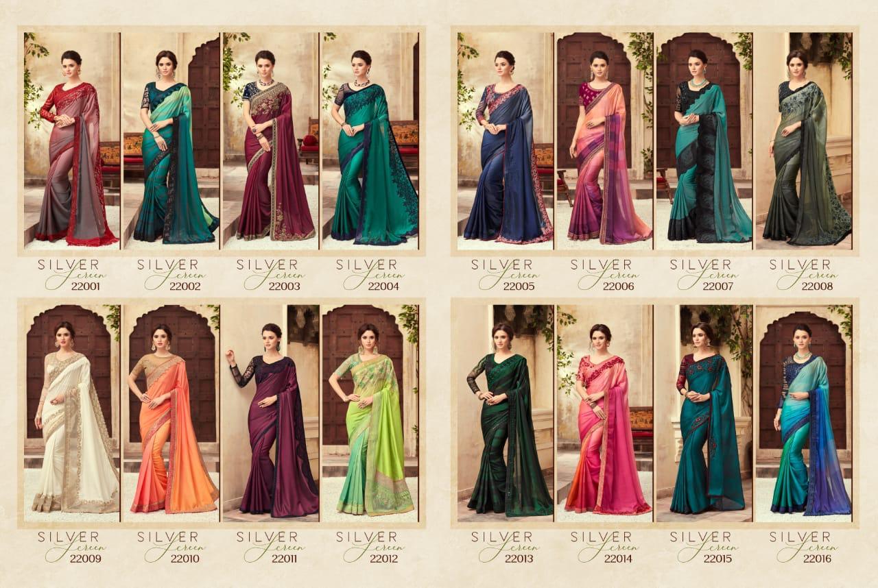 Tfh Silver Screen Designer Sarees Vol 12 Womenz Fashion