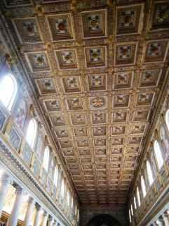Rom 8 - Santa Maria Maggiore 2 Kasettendecke vergoldet