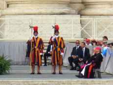 Rom - Vatikan 11 - Garde bei Generalaudienz