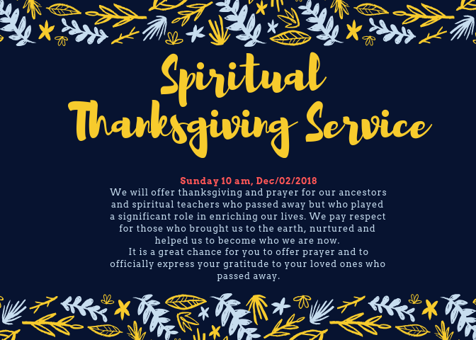 Thanksgiving Memorial Service(Flyer)