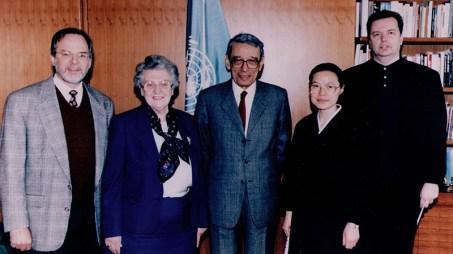 1995, With Boutros Boutros-Ghali