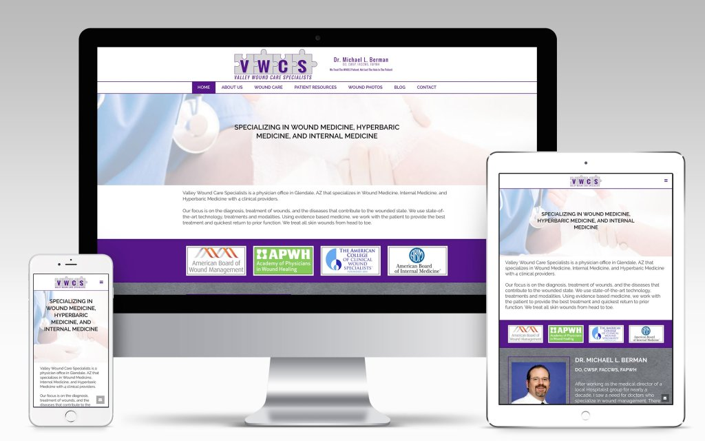Valley Wound Care Specialists Website | Won Creative